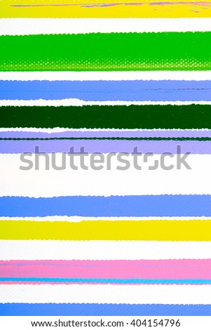 Closeup view of an original strips painting. Hand painted abstract grunge background. Multicolored bright texture. Fragment of artwork, modern art, contemporary art. spray paint. Colorful lines.