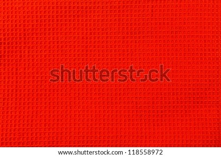 Closeup view of red textured background - stock photo