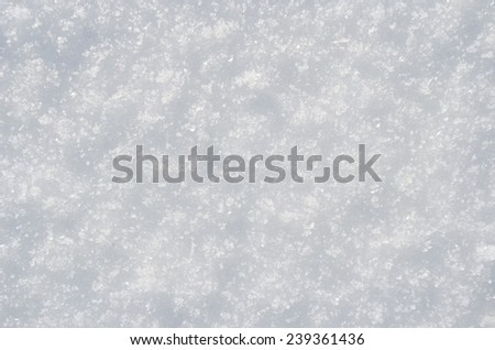 closeup view of snow covered plain surface - stock photo