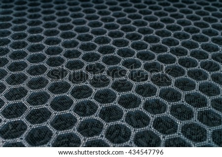 Closeup view on carbon air filter for HVAC technology. - stock photo