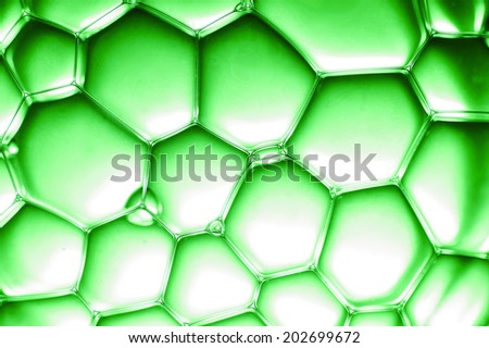 closeup view on green bubbles - stock photo