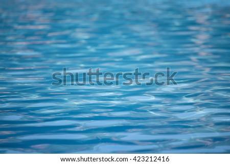 closeup  water in swimming pool - stock photo