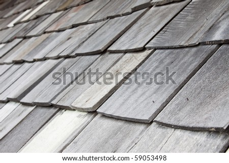 closeup wooden tiles, texture background - stock photo