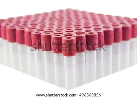 Clot blood tube isolated have a clipping path