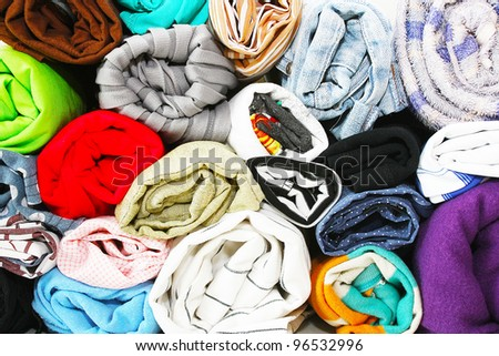 cloth, colour - stock photo