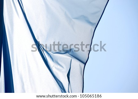 Cloth in the wind - stock photo