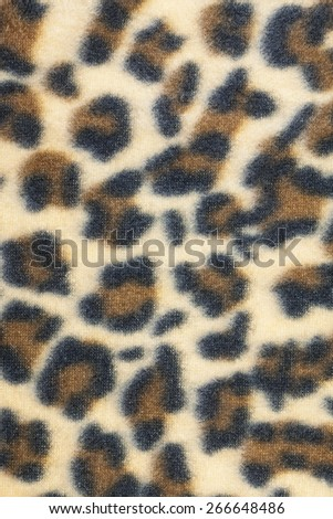 Cloth leopard pattern texture. - stock photo