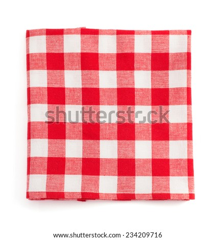 cloth napkin isolated on white background - stock photo