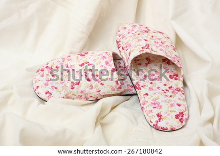 Cloth slippers - stock photo
