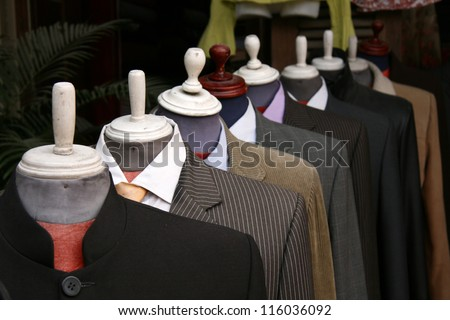 Cloth / Tailor Store in Hoi An City in Central Vietnam - stock photo