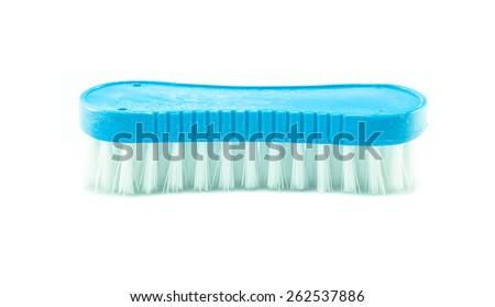 clothes brush  on white background - stock photo