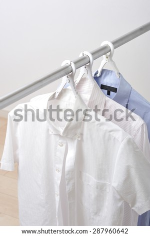 Clothes drying on laundry in domestic room - stock photo