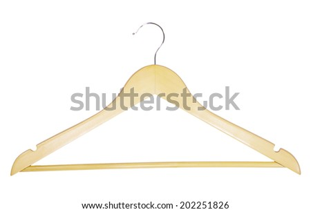 Clothes-hanger for trousers  - stock photo