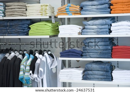Clothes in the shop - stock photo