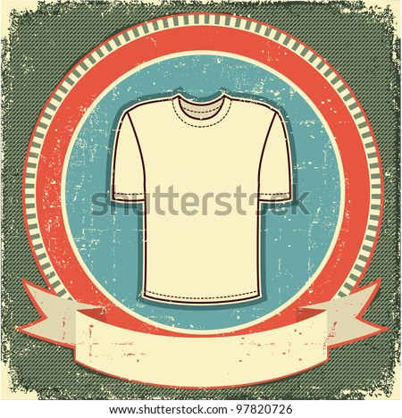 Clothes label set on white.Vector t-shirt background.Raster