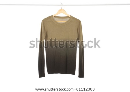 clothes on a hanger studio isolated - stock photo
