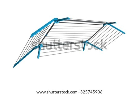 Clothes rack dryer stand isolated - stock photo