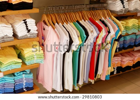 clothes shop - stock photo