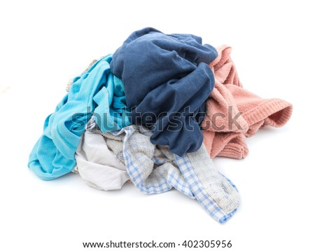 Clothes wait for clean washed - stock photo