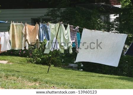 Clothesline - stock photo