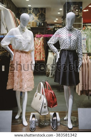 Clothing boutique display - stock photo