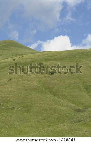 Cloud and grass. - stock photo