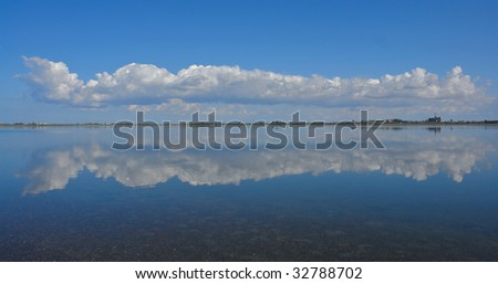 Cloud and reflexion in water