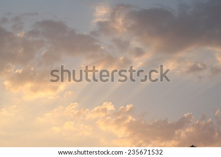 Cloud and sky background texture - stock photo