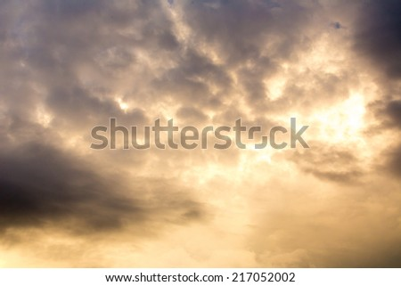 Cloud at sunset. Abstract background