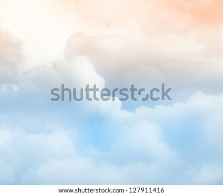 Cloud background - stock photo