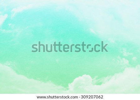 cloud background in heart shape with gradient colour and grunge  - stock photo