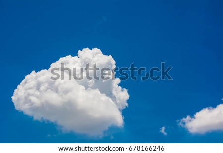 Cloud blue sky backdrop