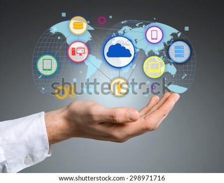 Cloud, business, concept. - stock photo