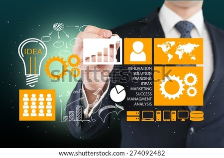 Cloud, business, network. - stock photo