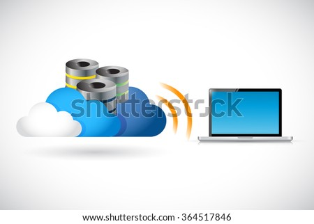 cloud computing and computer connection illustration design graphic - stock photo