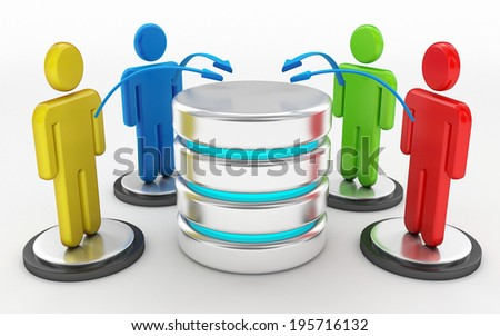 cloud computing and server network concept - stock photo