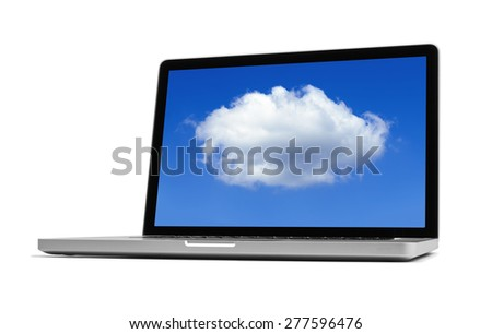 Cloud computing -  clipping path included - stock photo