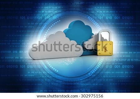 Cloud computing concept - stock photo