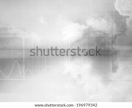 Cloud Computing Concept Background - stock photo