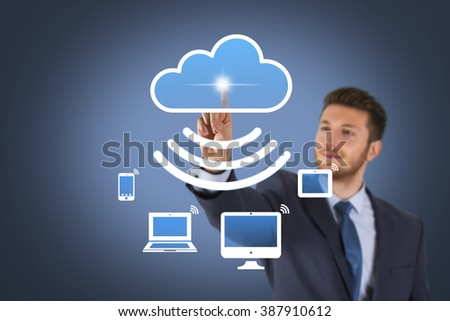 Cloud Computing Concept on Screen
