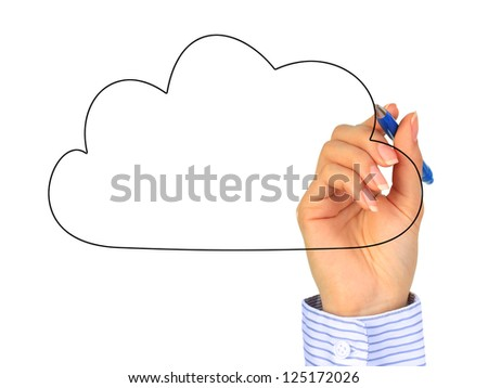Cloud computing concept. Photo collage. - stock photo