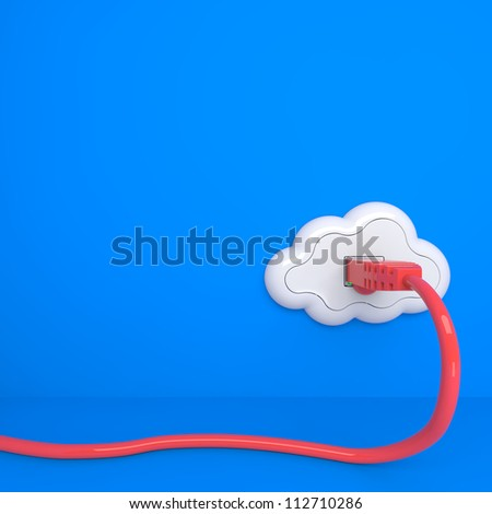 Cloud Computing Concept. The Future - Everything from Socket - stock photo