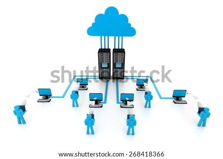Cloud computing devices - stock photo