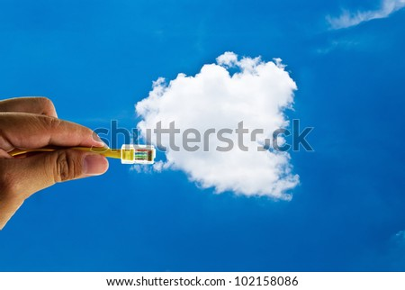 Cloud computing innovation digital concept - stock photo