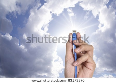 Cloud computing innovation digital concept - stock photo