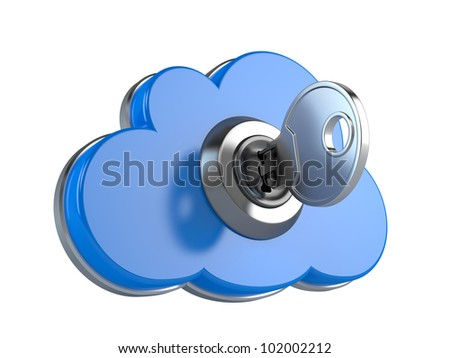 Cloud computing security concept