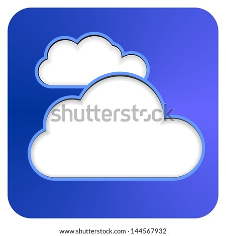 CLOUD COMPUTING smartphone APP button - stock photo