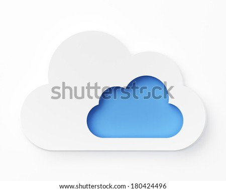 Cloud computing technology - stock photo