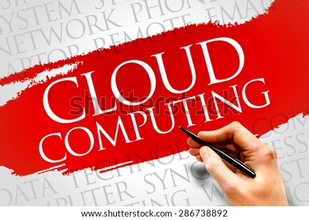 Cloud computing word cloud concept - stock photo