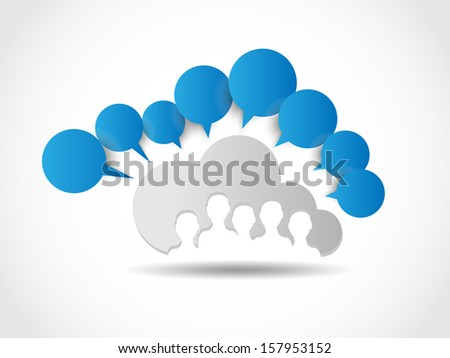 CLOUD COMPUTING WORLD PEOPLE CONNECTING WHITE - stock photo